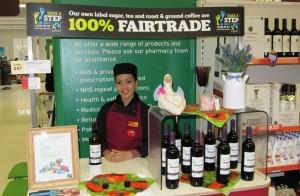 Fairtrade wine tasting at Sainsburys